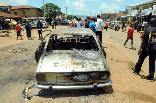 Dimanche, c'était la ville de Jos (centre) qui... (PHOTO ARCHIVES AFP)