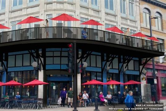 Le propriétaire du bar Le Manhattan souhaite installer...