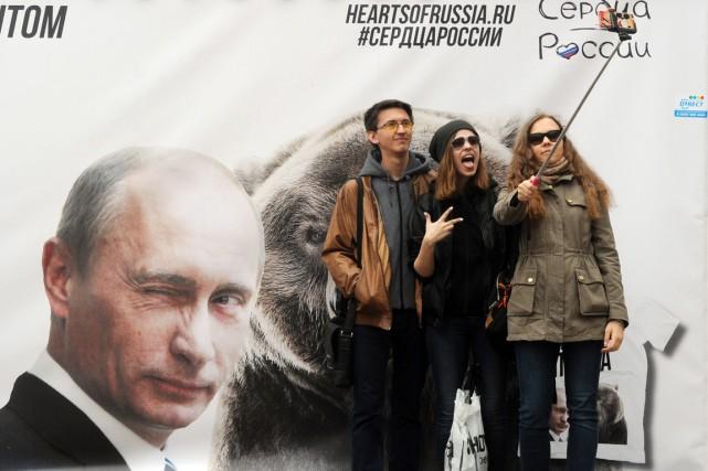 La campagne de sensibilisation des autorités russes pour... (PHOTO OLGA MALTSEVA, ARCHIVES AFP)