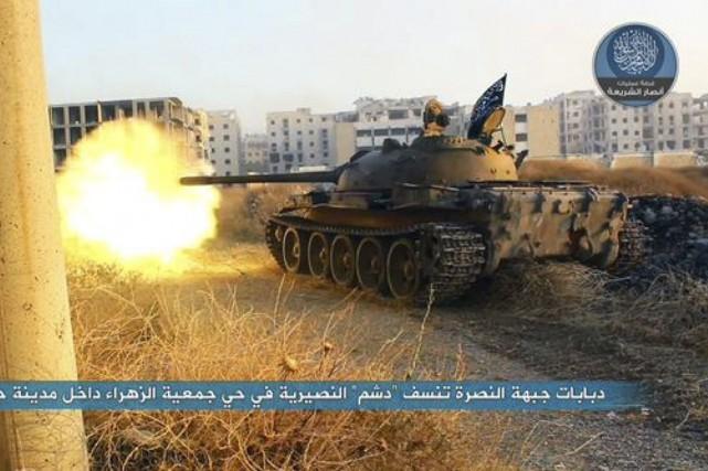 Image Twitter tirée du compte duFront Al-Nosra.... (PHOTO AP/TIRÉE DE TWITTER)