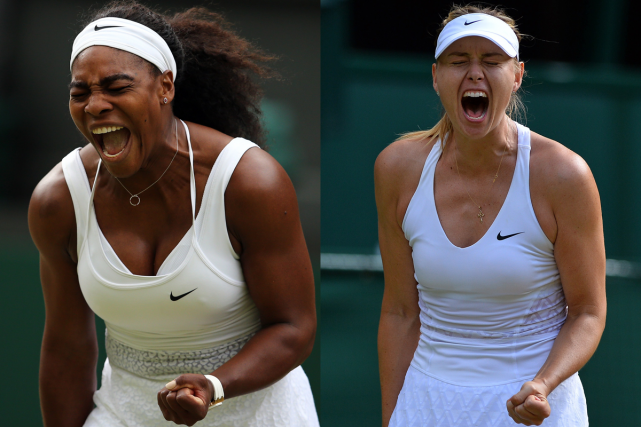 Serena Williams et Maria Sharapova... (Photos archives AFP)