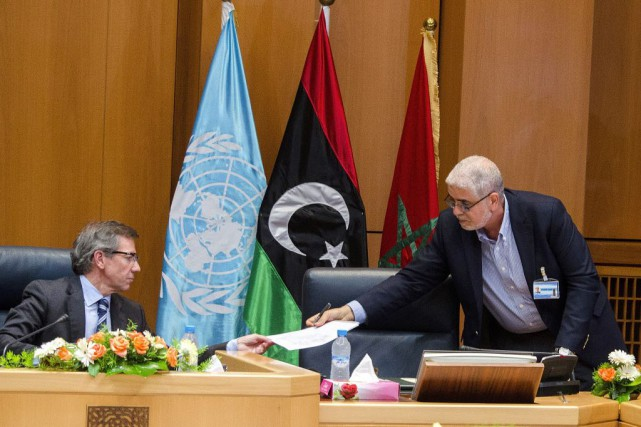 L'émissaire des Nations unies pour la Libye Bernardino... (Photo AP)
