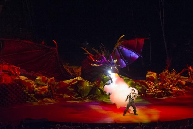 Le spectacle Dragao, la nouvelle aventure d'Amos Daragon,... (PHOTO: STÉPHANE LESSARD)