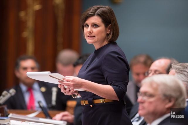 La ministre Vallée a indiqué dans un bref... (PHOTO JACQUES BOISSINOT, ARCHIVES LA PRESSE CANADIENNE)