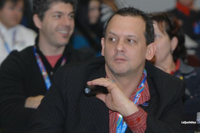 Pierre Dufour lors des jeux du Québec... (ARCHIVES LE QUOTIDIEN, MICHEL TREMBLAY)