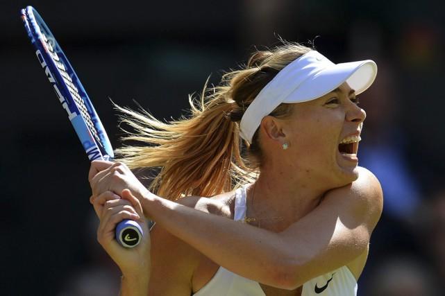 Maria Sharapova a défait l'Américaine Coco Vandeweghe en... (Agence France-Presse)