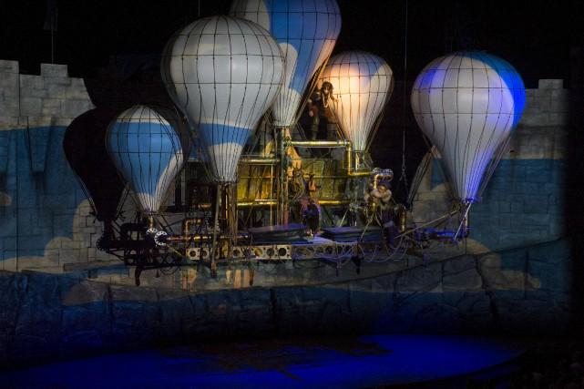 Le spectacle Dragaoa été lancé mardi soir à... (Stéphane Lessard)