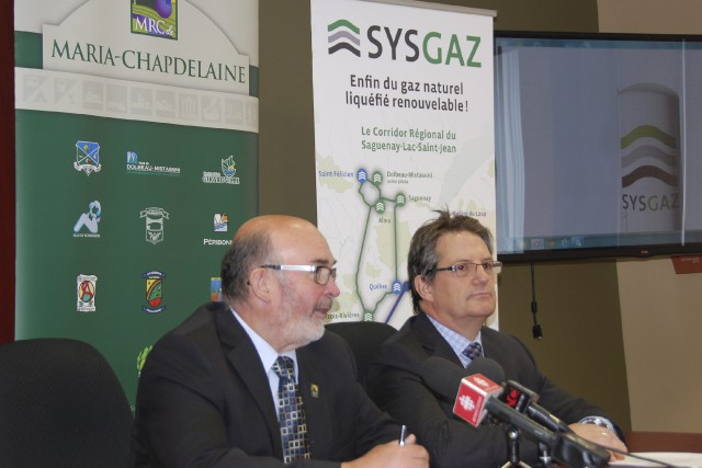 Jean-Pierre Boivin et Charles Tremblay ont présenté le... ((Courtoisie))