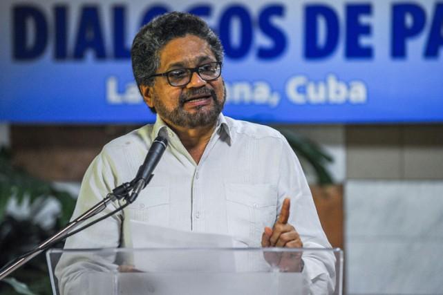 Ivan Marquez, chef négociateur des FARC,a accusé mardi... (PHOTO AFP)