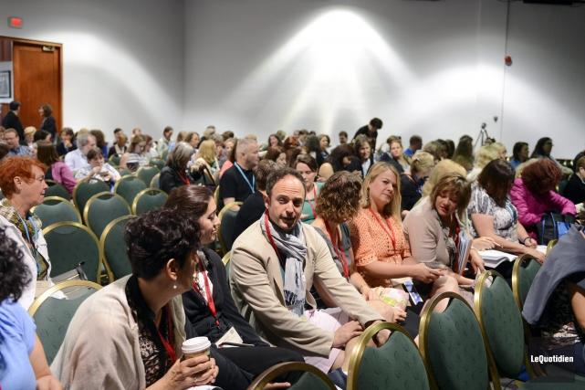 Environ 300 enseignants de français des États-Unis séjournent... ((Photo Le Quotidien, Jeannot Lévesque))