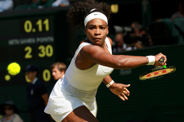Serena Williams a battu Maria Sharapova pour la 17e... (Photo Sean Dempsey, Reuters)
