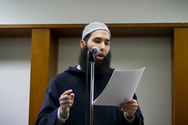 L'imam Hamza Chaoui... (PHOTO TIRÉE D'UNE VIDÉO YOUTUBE)