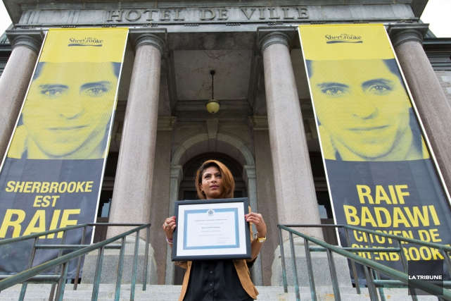 L'épouse du blogueur Raif Badawi, Ensaf Haidar, a... (Imacom, Jessica Garneau)