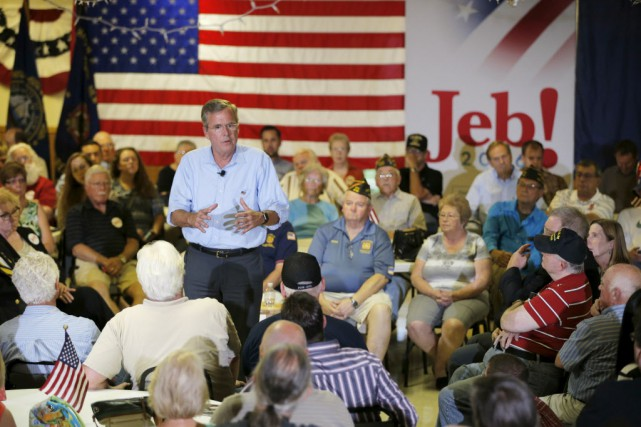La campagne officielle de Jeb Bush a annoncé... (PHOTO BRIAN SNYDER, AP)