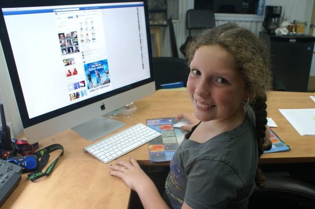 Comme bien des jeunes, Laurie Villeneuve, neuf ans,... ((Photo Le Progrès-Dimanche, Mélissa Viau))