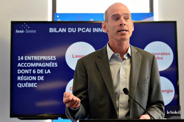 Le directeur général du PCAI-Inno-centre, Jean-François Cauchon, fera... (Photo le Soleil, Patrice Laroche)