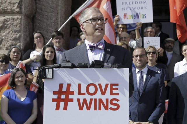 Jim Obergefell était le plaignant dans l'affaire Obergefell... (PHOTO ARCHIVES AP)