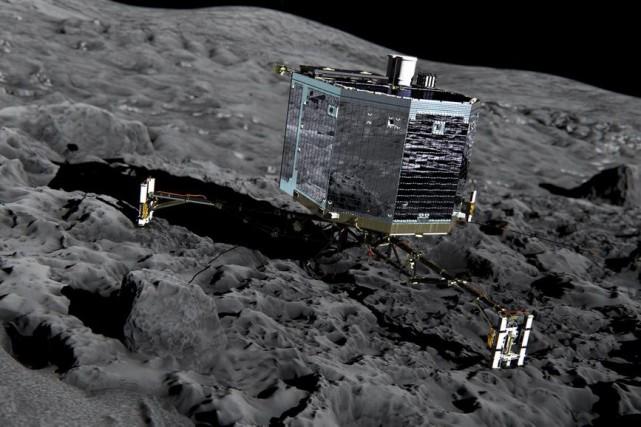 Philae n'avait pas donné de ses nouvelles depuis... (PHOTO ESA/AP)