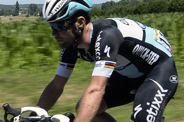 Mark Cavendish... (Photo LIONEL BONAVENTURE, AFP)