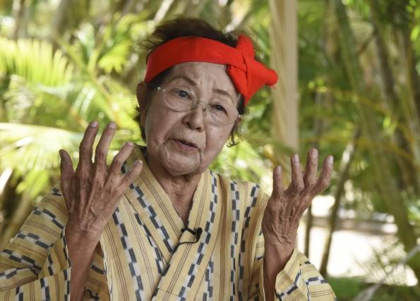 Hideko Kedamori, 86 ans, mentionne: «Nous sommes toutes... (PHOTO AFP)