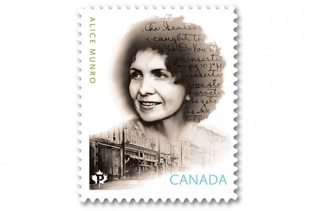 La poste canadienne a émis vendredi un timbre à l'effigie de la prix Nobel de...