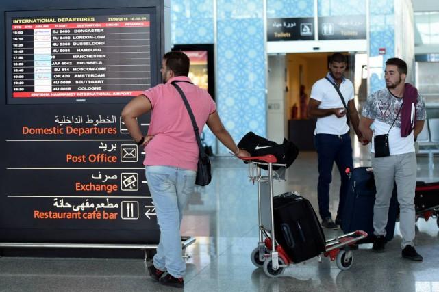 Depuis l'attentat du 26 juin, «la police aéroportuaire... (PHOTO FETHI BELAID, AFP)