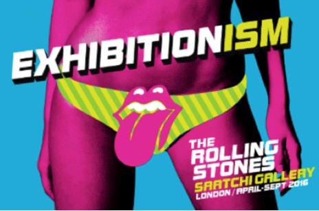 Les affiches de promotion de l'exposition Exhibitionism, qui...