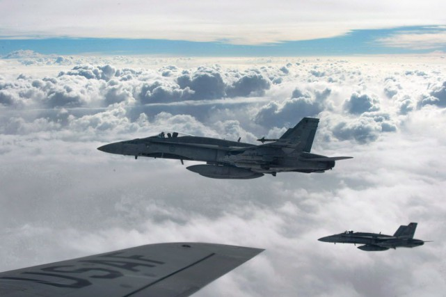 Le Canada fournit à la coalition internationale dirigée... (Photo U.S. Air Force, La Presse canadienne)