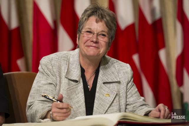 Chantal Rouleau,la mairesse de l'arrondissement de Rivière-des-Prairies-Pointe-aux-Trembles... (Photo Olivier Pontbriand, La Presse)