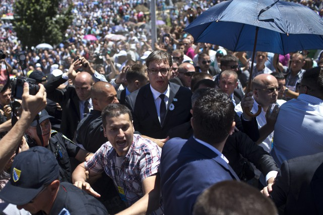 Des journalistes de l'AFP ont vu que des... (Photo Marko Drobnjakovic, AP)