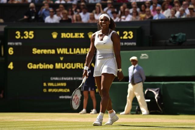 Serena Williams... (PHOTO LEON NEAL, AFP)