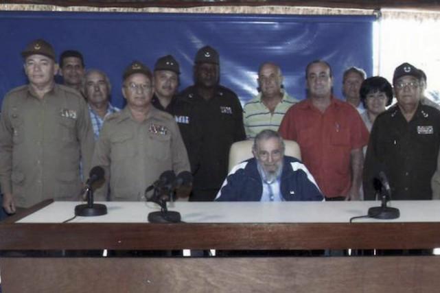 Jeudi, Fidel Castro s'est entretenu avec des chefs... (PHOTO AFP/CUBADEBATE.CU)