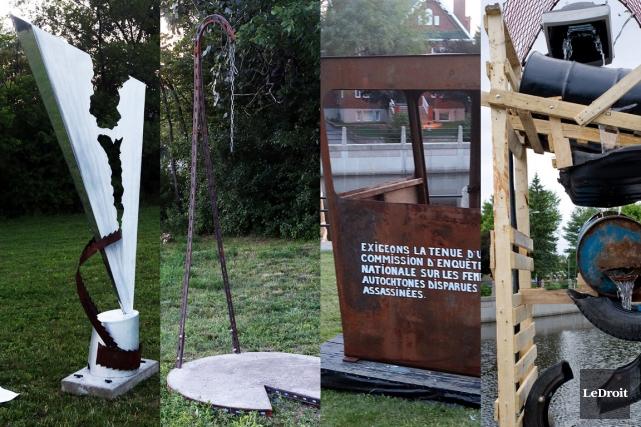 Pour la première fois de son histoire, le Recycl'art transplante en milieu... (Photomontage LeDroit)