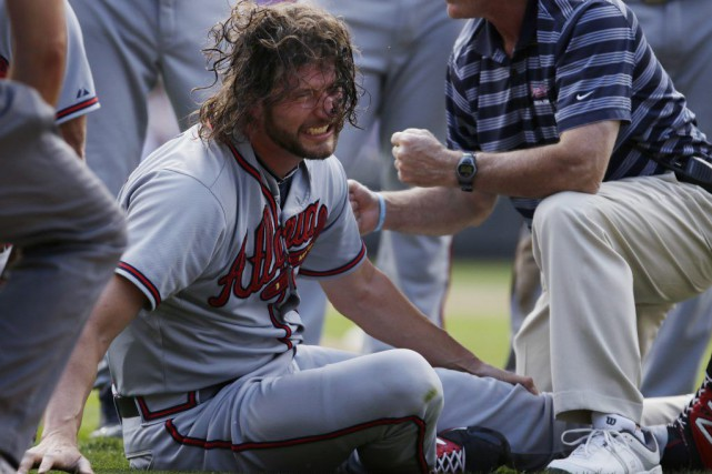 Jason Grilli a subi la blessure alors qu'il se... (PHOTO JOE MAHONEY, AP)