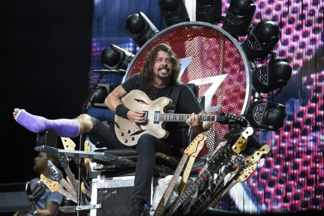 Dave Grohl a dessiné un trône lui permettant... (Photo Nick Wass/Invision, archives AP)