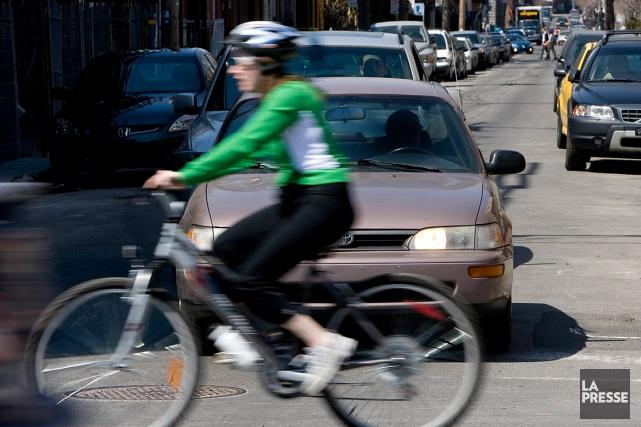 La Sûreté du Québec, en collaboration avec Vélo Québec et la Fédération... (PHOTO FRANÇOIS ROY, ARCHIVES LA PRESSE)