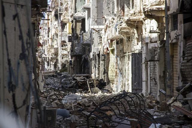 Depuis juillet 2014, les combats quotidiens entre forces... (Photo Mohamed Salama, archives AP)