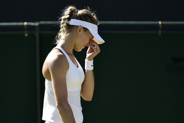 Eugenie Bouchard... (PHOTO OBY MELVILLE, REUTERS)