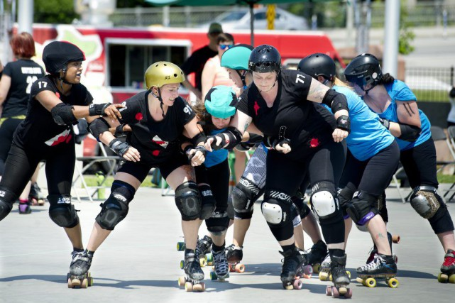 PHOTO MARTIN ROY LE DROITMatch de roller derby...