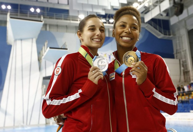 Pamela Ware (à gauche) et Jennifer Abel (à... (USA TODAY Sports)