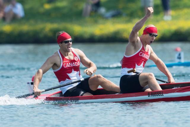 En arrivant au bassin de Welland, lundi matin, Gabriel Beauchesne-Sévigny a tôt... (La Presse Canadienne)