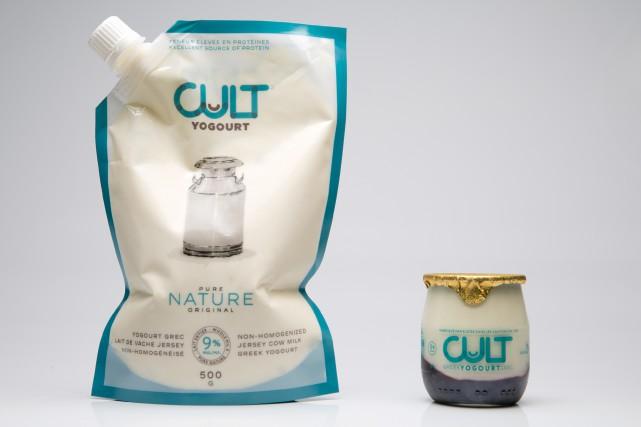 L'entreprise Cult Yogourt commercialise son yogourt en poches... (PHOTO FRANÇOIS ROY, LA PRESSE)