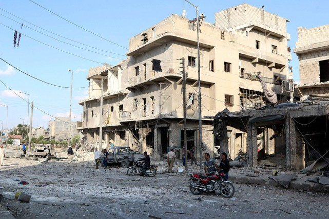 Selon des ONG, le régime bombarde régulièrement les... (Photo Mahmoud Hebbo, Reuters)