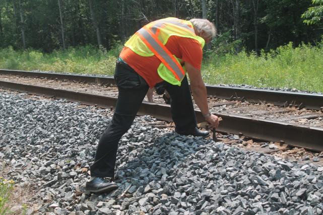 Jacques Daniel Vandersleyen a inspecté les rails dans...