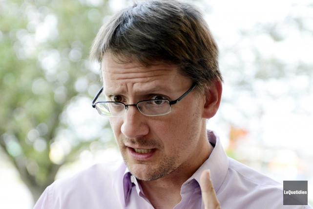 Le député de Jonquière, Sylvain Gaudreault... ((Photo Le Quotidien, Jeannot Lévesque))