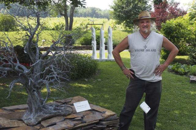 Jean-Pierre Ménard, directeur de l'exposition Nature et création,... (photo Alain Dion)