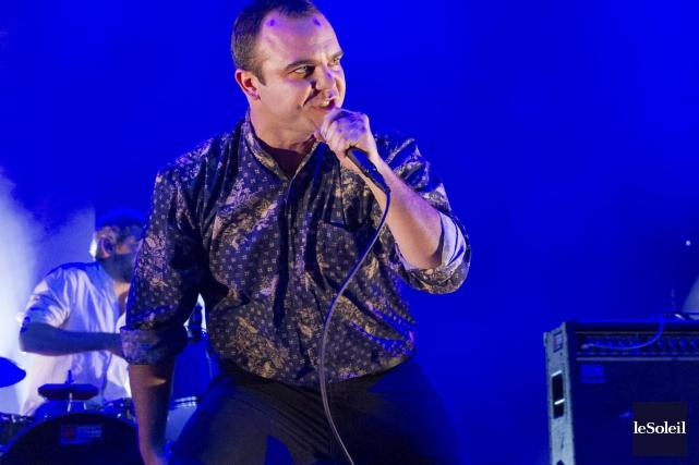 Le chanteur de la formation Future Islands, Samuel... (Le Soleil, Caroline Grégoire)