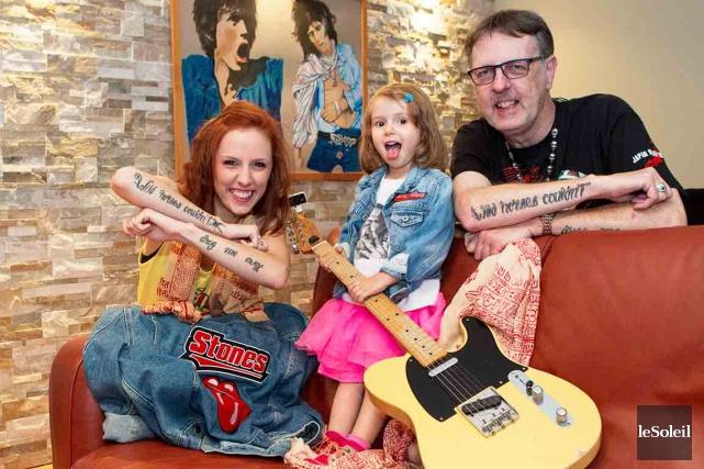 Trois générations d'amoureux des Rolling Stones : Richard... (Le Soleil, Caroline Grégoire)