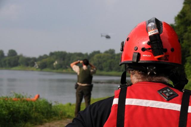 Malgré plusieurs heures de recherche, les sauveteurs n'ont... (Photo collaboration spéciale Éric Beaupré)