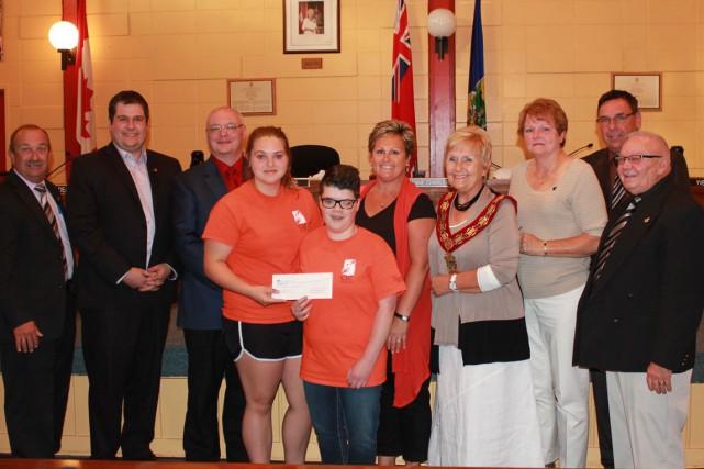 La Ville de Hawkesbury a remis 1620$ aux participants du programme «C'est ta... (Martin Brunette, LeDroit)